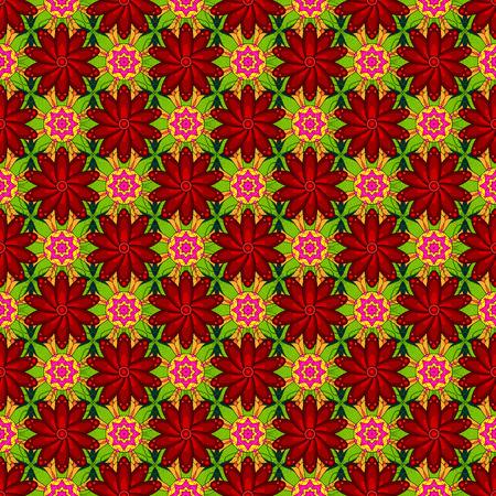 Vector illustration. Colored mandala on background. Mandala style. Rich ethnic striped seamless pattern geometric design.