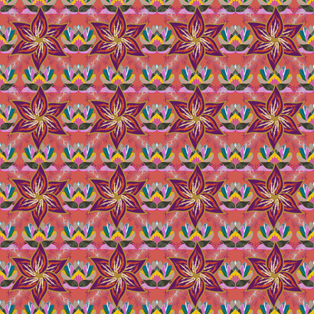 saturated color: Vintage vector floral seamless pattern in colors. Illustration