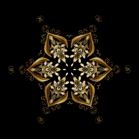 Snowflake vector design on black background. Snow flakes background.