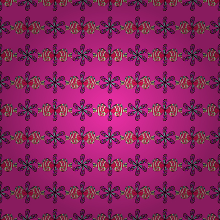 Abstract vector seamless pattern flower design in colors