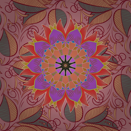 delectable: Vector seamless colorful floral pattern. Hand drawn floral texture, decorative flowers. Illustration