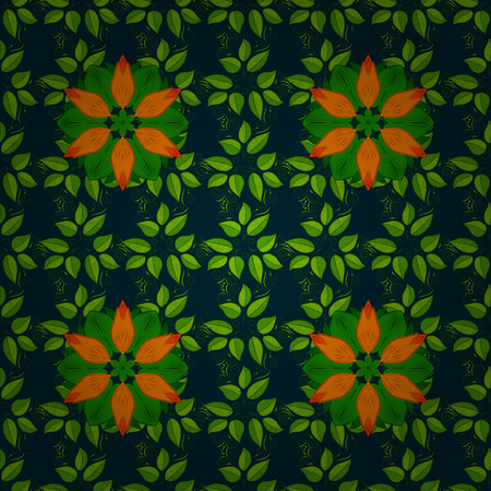 chaotic: Vintage vector floral seamless pattern in colors. Illustration