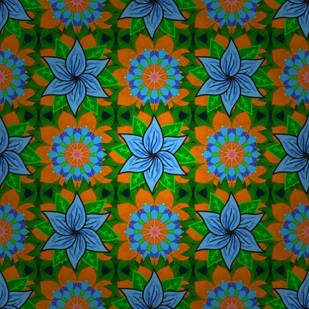 Trendy naadloze bloemenpatroon. Vector illustratie met veel bloemen.