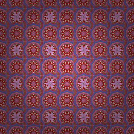Een vectorbloemillustratie. Naadloos patroon met bloemenmotief. Naadloos bloemenpatroon met bloemen, waterverf. Stock Illustratie
