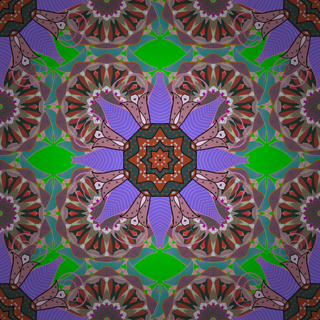 Bloemen naadloos patroon met lichte zomerbloemen in kleuren. Eindeloze vector textuur voor romantisch ontwerp, decoratie, wenskaarten, posters, wrapping, voor textieldruk en stof. Stock Illustratie