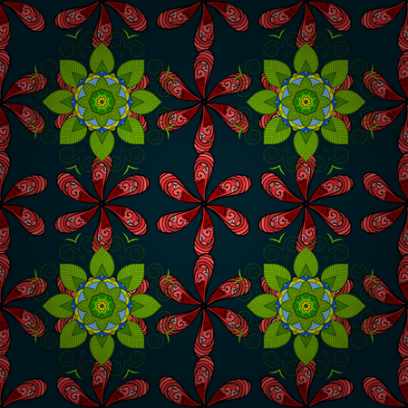 Vector cute pattern in small flower. Illustration