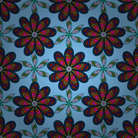 Trendy seamless floral pattern.