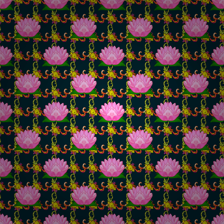 Seamless pattern with floral motif.