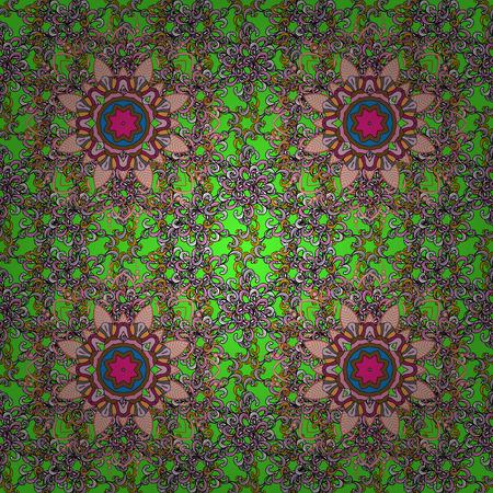 admirable: East, Islam. Mandala colored background. Arabic Vintage decorative ornament. Vector Mandala pattern on background.