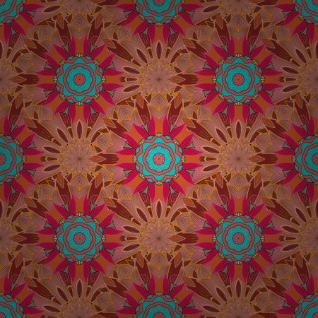 star award: Floral ornament seamless pattern. Round texture in Vector illustration. Illustration