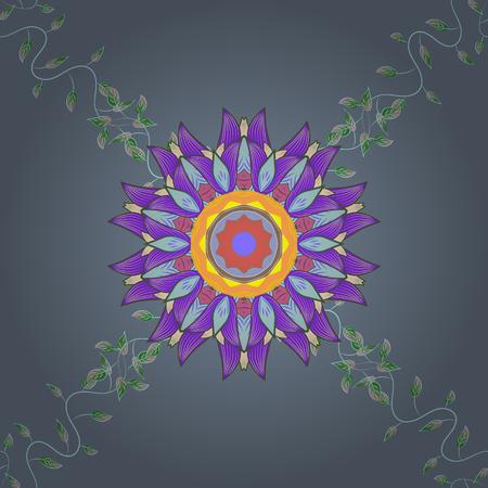 Vector flower illustration. Seamless pattern with floral motif. Seamless floral pattern with pink flowers, watercolor.