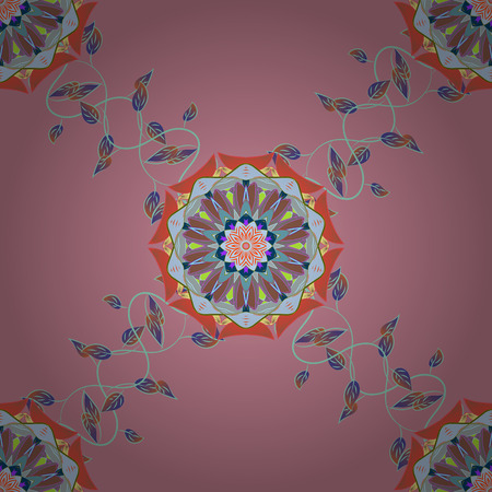 glitzy: Seamless pattern with floral motif. Seamless floral pattern with flowers, watercolor. Vector flower illustration. Illustration
