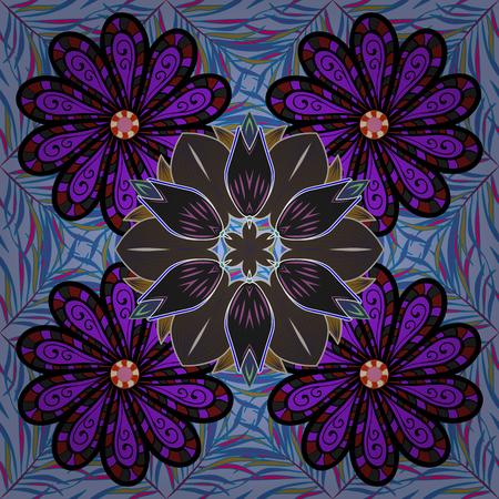 fascinação: Design de verão. Padrão natural da folha em cores. Conceito de flor de vetor. Padrão floral sem costura pode ser usado para esboço, fundo do site, papel de embrulho. Ilustração