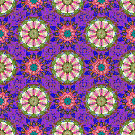 linearity: Ornament colored card with mandala, geometric circle vector element.