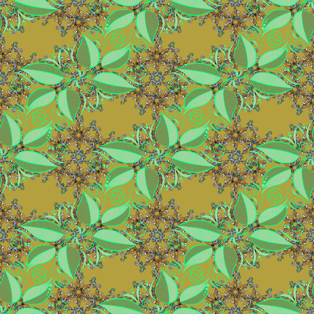 Seamless pattern with leaves. Floral watercolor seamless background. Vector textile print for bed linen, jacket, package design, fabric and fashion concepts.