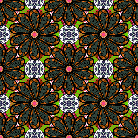 Seamless pattern with flowers. Floral watercolor seamless background. Illustration
