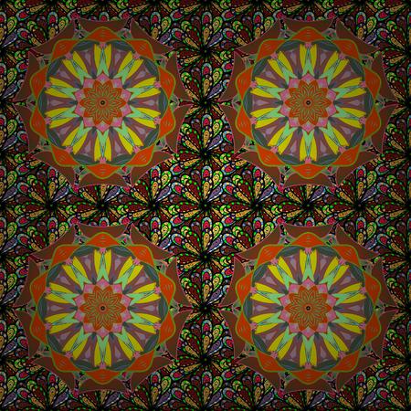 flayer: Background. Vector ethnic mandalas, doodle background circles.