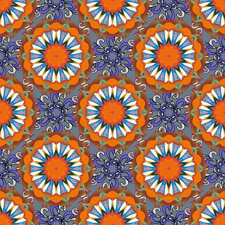 glorious: Hand-drawn vector mandala with colored abstract pattern on a background. Bag design.