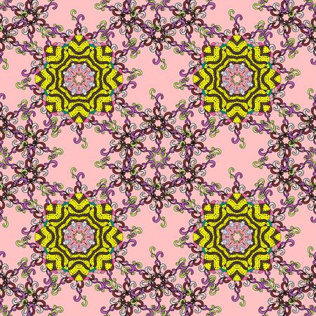 pleasing: Decorative vector ornate colored mandala icon isolated for card, colored Mandala on a background. For invitation card, scrapbook, banner, postcard, tattoo, yoga, boho, magic, carpet, tile or lace.