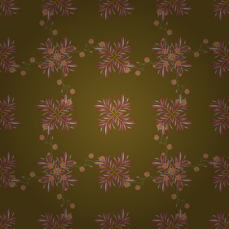Floral watercolor seamless background. Vector textile print for bed linen, jacket, package design, fabric and fashion concepts. Seamless pattern with flowers.