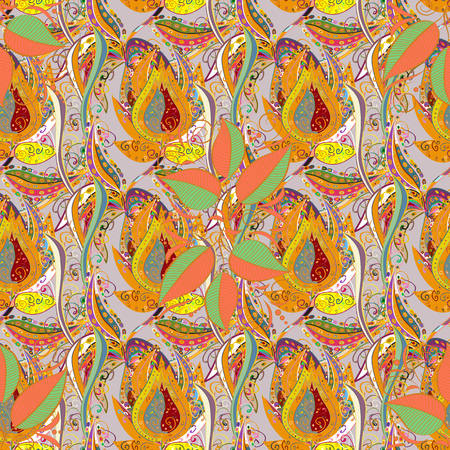Blooming jungle. Motley vector illustration. Seamless exotic pattern with many tropical flowers. Ilustração