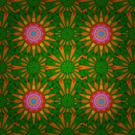 kundalini: Tribal, Boho, Bohemian style, for flash tattoo. Vector colored Mandala. Ornament invitation card Vintage decorative elements on a background.