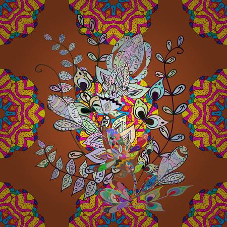 Mandala pattern. Arabic Vintage decorative ornament. Vector Mandala colored on background. Orient, symmetry lace, meditation symbol. East, Islam, Thai, Indian, ottoman motifs. Tribal, ethnic texture. Illustration