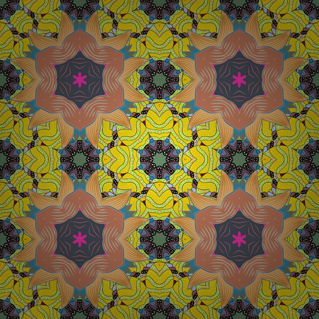 Pretty floral print with small flowers. Motley seamless pattern. Vector abstract flower background. Illustration