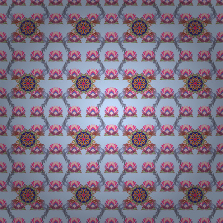 flamboyant: Trendy seamless floral pattern. Vector illustration with many flowers.