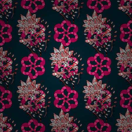delectable: Vector floral pattern for wedding invitations, greeting cards, scrapbooking, print, gift wrap, manufacturing fabric and textile. Elegant seamless pattern with decorative flowers in colors.