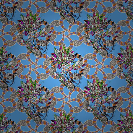 delectable: Hand drawn floral texture, decorative flowers. Vector seamless colorful floral pattern.