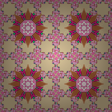 saturated color: Leaf natural pattern in colors. Seamless floral pattern can be used for sketch, website background, wrapping paper. Vector flower concept. Summer design. Illustration