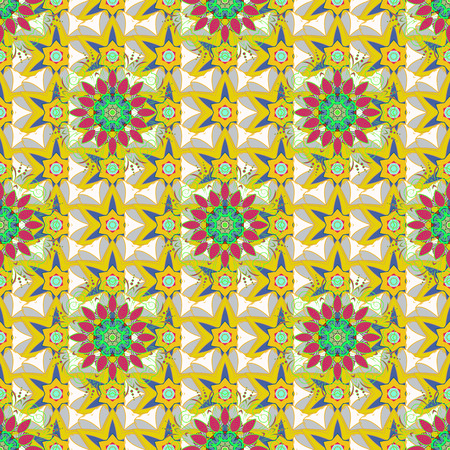 peculiar: Pretty floral print with small flowers. Motley seamless pattern. Vector abstract flower background. Illustration