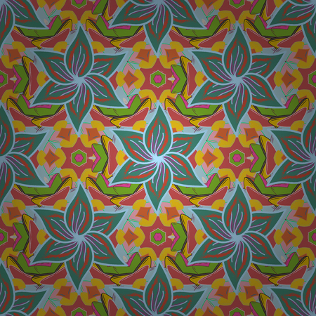 rare: Vector illustration with many flowers. Trendy seamless floral pattern.