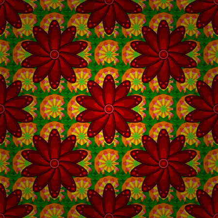 rare: Vintage vector floral seamless pattern in colors. Illustration