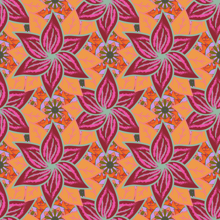 rare: Seamless pattern with many small flowers. Seamless floral pattern. Vector abstract floral background.