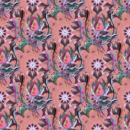 delectable: Textile print for bed linen, jacket, package design, fabric and fashion concepts. Abstract vector seamless pattern flower design in colors. Floral seamless pattern with watercolor effect.