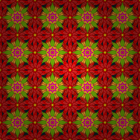 Abstract Mandala. Islam, Arabic, Indian, turkish, pakistan, chinese, ottoman motifs. Vintage decorative elements. Oriental colored pattern on background. Vector illustration.