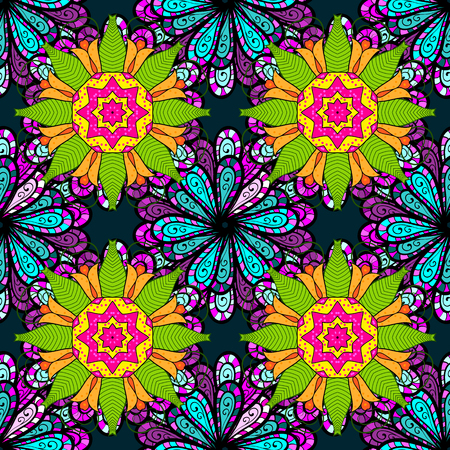 huggable: Vector abstract floral background. Seamless pattern with many small flowers. Seamless floral pattern. Illustration