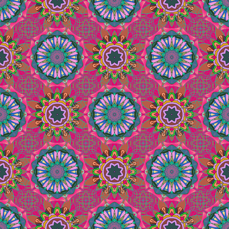 stripy: Vector illustration. Colored round floral mandala on a background. For textile, invitations, banners and other. Illustration