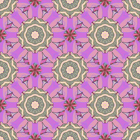 nucleic: Colored mandala   on background. Sacred geometric vector symbol with many petals flower.