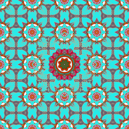 temporary: For wedding invitation, book cover or flyer. Background with colored ornament mandala, based on ancient greek and islamic ornaments. Illustration