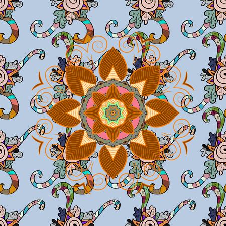 five star: Ornament colored card with mandala. Geometric circle vector element. Tribal, Boho, Bohemian style. Kaleidoscope, medallion, yoga, india, arabic. Illustration