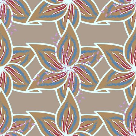 색상에서 장식 꽃 우아한 원활한 패턴입니다. 결혼식 초대장, 인사말 카드, scrapbooking, 인쇄, 선물 포장, 직물 및 섬유를 제조에 대 한 벡터 플로랄 패턴.
