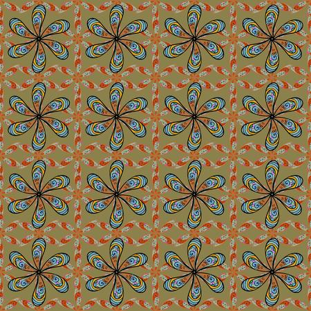 많은 열 대 꽃과 원활한 이국적인 패턴입니다. 피는 정글. 가지각색의 벡터 일러스트 레이 션. 일러스트