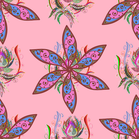 peculiar: Blooming jungle. Motley vector illustration. Seamless exotic pattern with many tropical flowers. Illustration