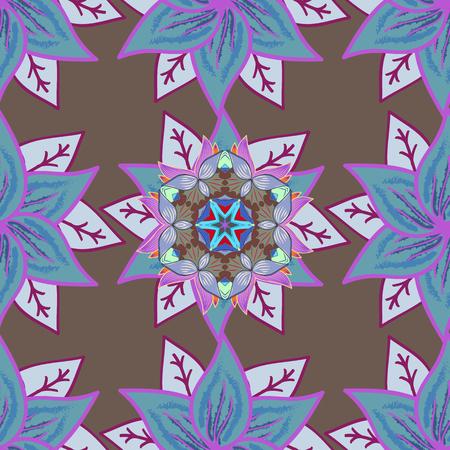trendy tissue: Decorative design element filigree calligraphy. Vintage baroque mandala ornament on background. Retro pattern antique style acanthus. Vector illustration.