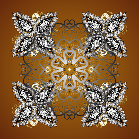 Snowflakes seamless pattern with watercolor effect. Vector seamless background. Textile print for bed linen, jacket, package design, fabric and fashion concepts. Abstract seamless snowflakes design.