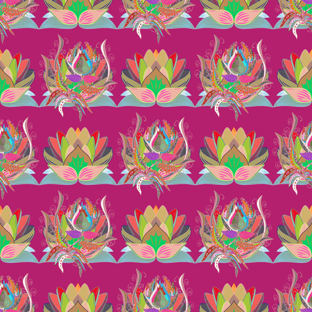 Seamless pattern with many small flowers. Seamless floral pattern. Vector abstract floral background.
