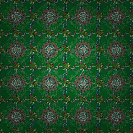motley: Seamless pattern with floral motif. Seamless floral pattern with flowers, watercolor. Vector flower illustration. Illustration